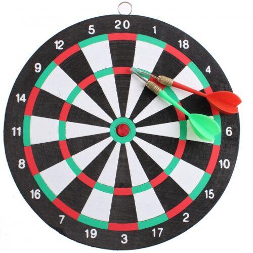 Master Darts dartbord 24 cm met 2 pijlen - Multicolor