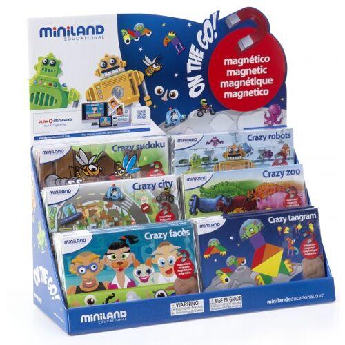 Miniland leerspellen Magnetic On the Go! junior 18 delig - Multicolor