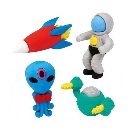 Moses gummenset ruimtevaart/alien 4 delig - Multicolor