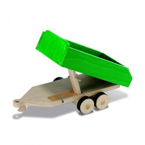 Nic houten trailer 38 cm - Groen,Blank