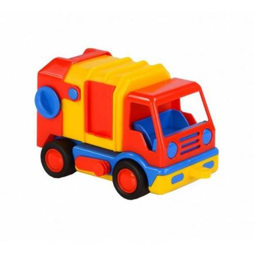 Polesie vuilniswagen 19 cm rood/geel - Rood,Geel