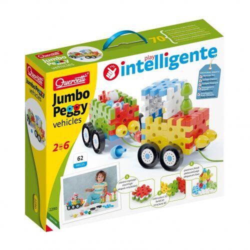 Quercetti bouwpakket voertuig Jumbo Peggy junior 62 delig - Multicolor