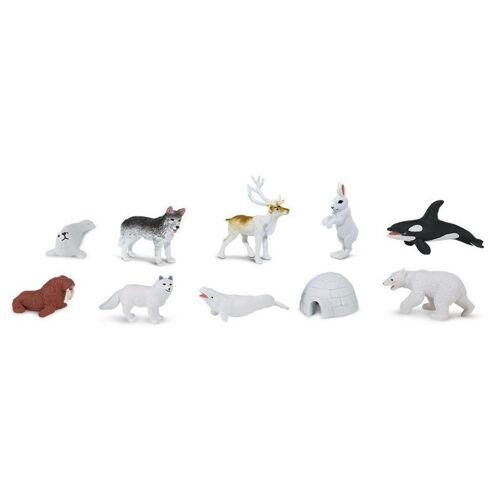 Safari speelset Antarctica junior 4 7,5 cm 48 stuks - Multicolor