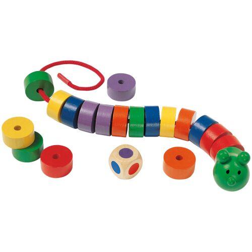 Selecta Spielzeug rijgspel Rups junior hout 20 delig - Multicolor