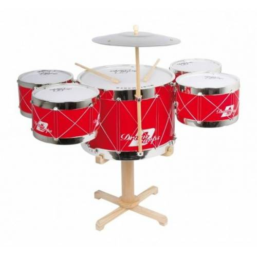 Small Foot drumstel 62 x 40 cm - Rood,Blank,Wit