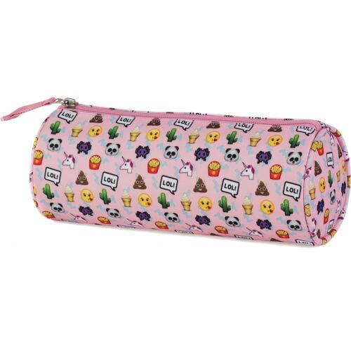 Stationery Team etui Emo Fun roze 23 x 8 x 8 cm - Roze