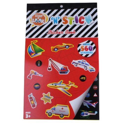 Stop & Look stickerboek 'N' Stick 24 x 14,8 cm 560 stickers - Multicolor