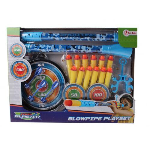 Toi-Toys Toi Toys blaaspijp deluxe 20 delig blauw - Blauw