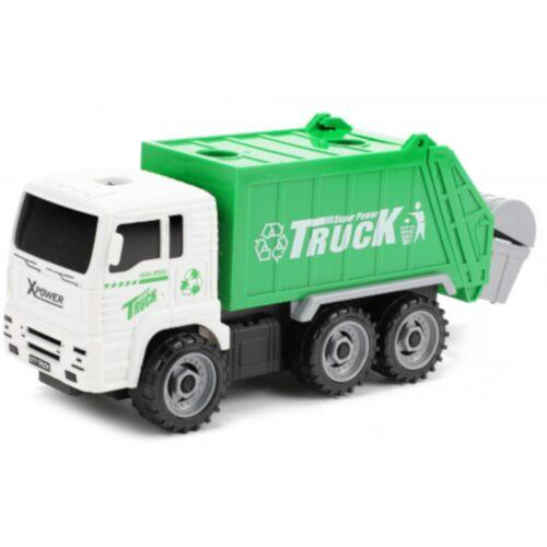 Toi-Toys Toi Toys vuilniswagen junior 33,5 x 10 cm groen/wit 6 delig - Groen,Wit