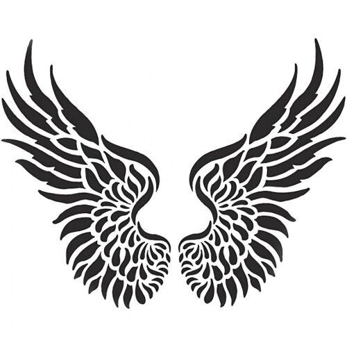 Viva Decor Flexibel sjabloon vleugels 21 x 30 cm wit - Wit