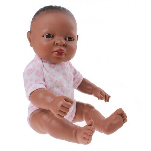 Berjuan babypop Newborn Afrikaans 30 cm meisje - Bruin