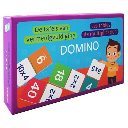 Dominos dominospel de tafels van vermenigvuldiging (NL/FR) - Multicolor