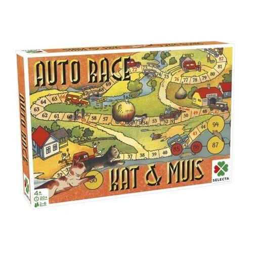 Selecta gezelschapsspel Spellen van toen: Auto Race/Kat & Muis - Multicolor
