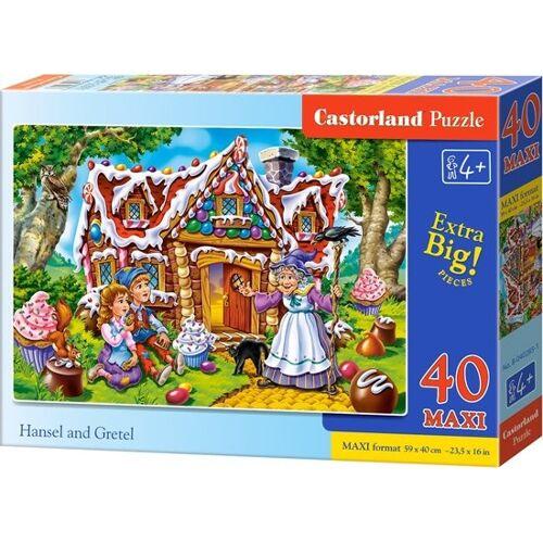 Castorland legpuzzel Hansel and Gretel 40 maxi stukjes - Multicolor