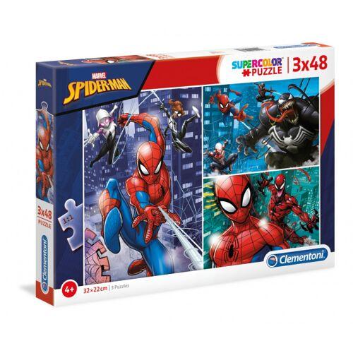 Clementoni legpuzzel Supercolor Marvel Spider Man 3x48 stukjes - Multicolor