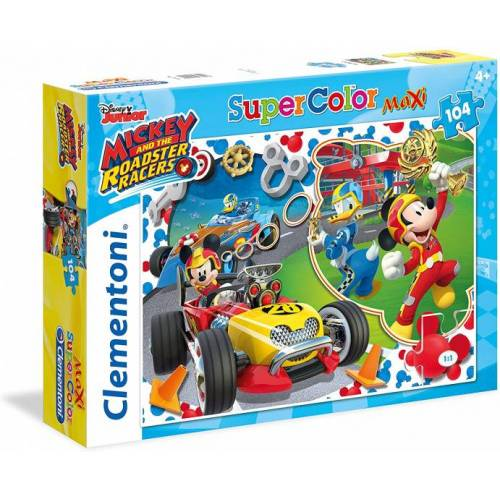 Clementoni supercolor legpuzzel Mickey Roadster 104 stukjes - Multicolor