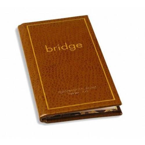 Dal Negro scoreboekje Bridge 70 pagina's leer bruin - Bruin,Goud