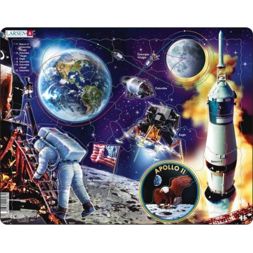 Larsen legpuzzel Maxi Ruimtevaart Apollo 11 50 stukjes - Multicolor