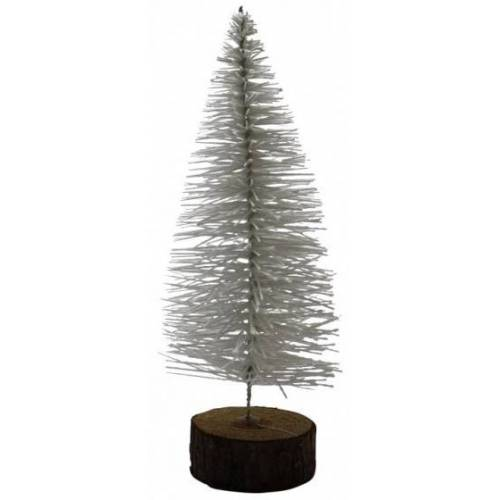 Peha kerstboom 26 cm hout wit - Wit