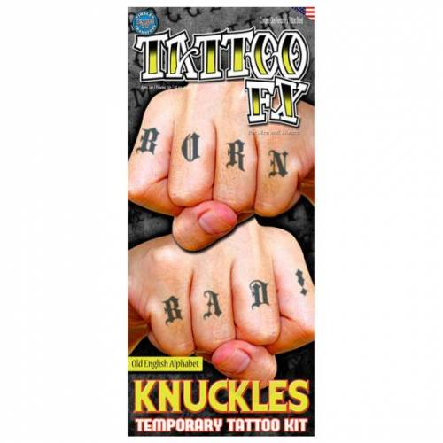 Partychimp neptatoeage CT Knuckles Alphabet polyester - Multicolor
