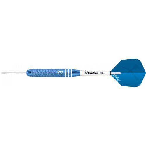 Bull's dartpijlen Wega steeltip gewicht 20 - Blauw,Wit