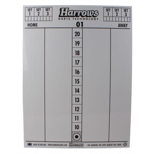 Harrows dry wipe scorebord met 4 stiften 45 cm - Wit