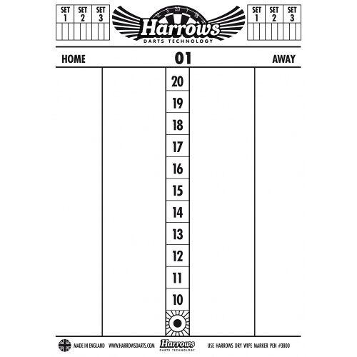 Harrows Dry Wipe Scoreboard - Wit