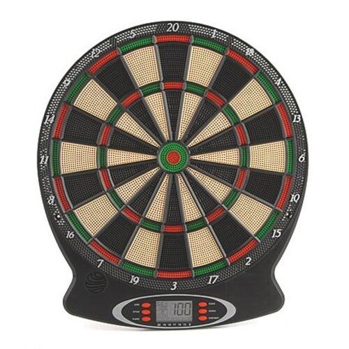 Toyrific electronisch dartbord met pijlen zwart 38x 44x3 cm - Zwart