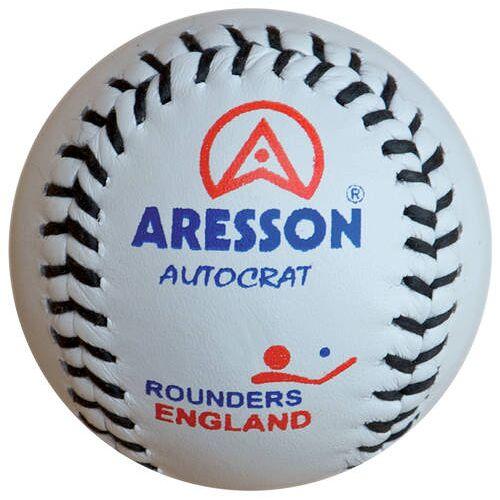 Aresson honkbal Rounders 19,5 cm leer wit - Wit