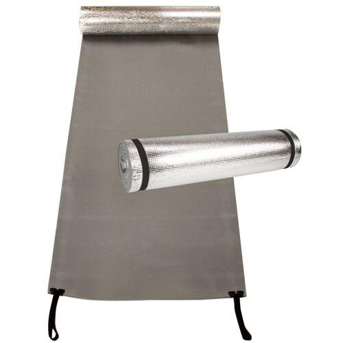 Abbey campingmat 190 x 60 cm foam zilver/grijs one size - Grijs,Zilver