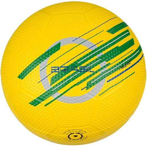 Avento straatvoetbal Worldcup Brazilië rubber geel maat 5 - Geel