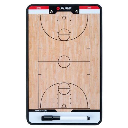Pure2Improve coachboard basketbal 35 x 22 cm bruin - Zwart,Wit