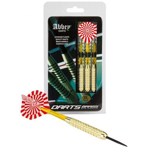 Abbey Darts dartpijlen Brass steeltip gewicht 22 - Rood,Wit