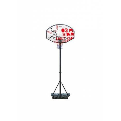 Avento basketbalstandaard 140 213 cm PE zwart/wit/rood - Zwart,Wit,Rood