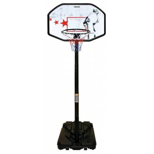 Avento basketbalstandaard 200 305 cm PE zwart/wit/rood - Zwart,Wit,Rood
