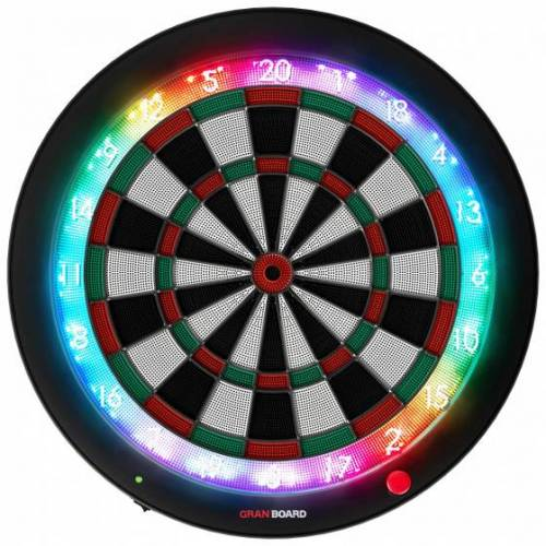 GranBoard elektronisch dartbord 3s 60 cm groen/rood 4 delig - Zwart,Wit,Groen,Rood