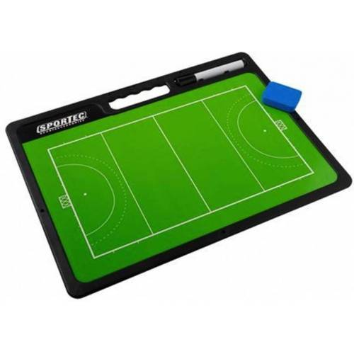 Sportec coachbord hockey met handgreep 42 x 31,5 cm - Groen