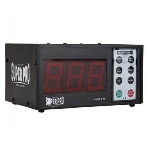 Super Pro digitale timer Gym Timer 30 cm zwart - Zwart