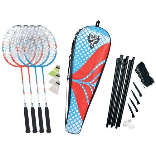 Talbot Torro badmintonset Fighter 10 delig - Rood,Wit,Blauw