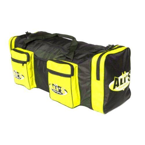 Ali's Fightgear sporttas met vechtsportlogo 54 liter geel - Geel