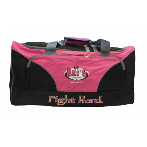 Ali's Fightgear sporttas met vechtsportlogo 85 liter roze - Roze