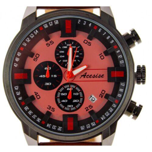 United Entertainment horloge 4,6 x 12 cm RVS bruin/rood - Bruin,Rood