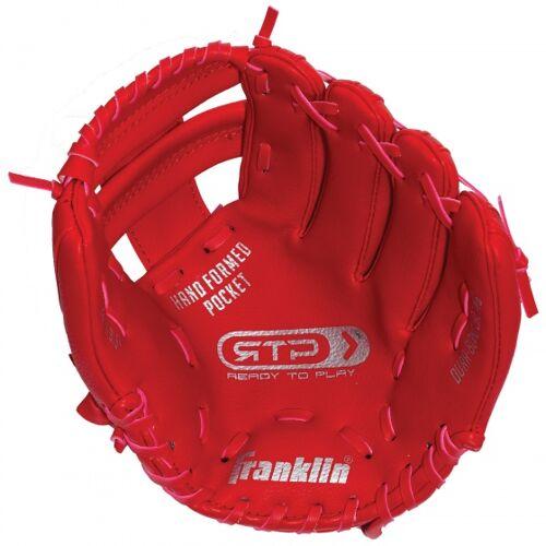 Franklin honkbalhandschoen linkerhand junior rood 9,5 inch - Rood