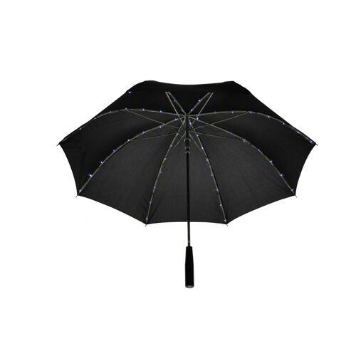 United Entertainment paraplu met LED 103 cm zwart - Zwart