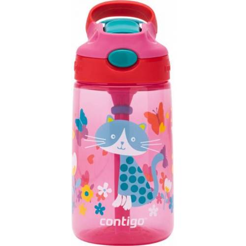 Contigo drinkfles Gizmo Flip kat junior 420 ml roze/rood - Roze,Rood