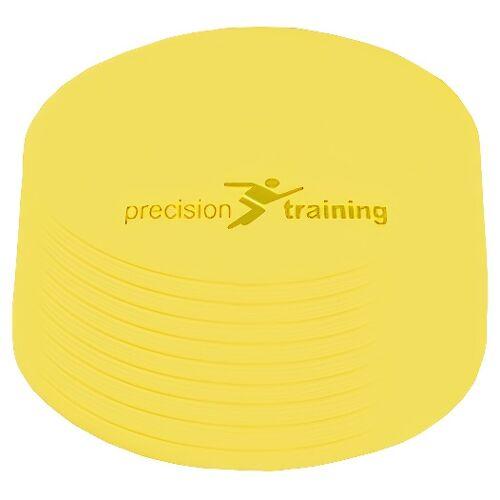 Precision veldmarkering rond 21 cm rubber geel 10 stuks - Geel