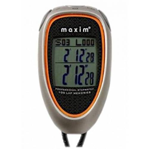 Maxim stopwatch 700 grijs/oranje 14 functies/kenmerken - Grijs,Oranje