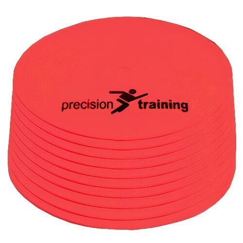 Precision veldmarkering rond 21 cm rubber rood 10 stuks - Rood
