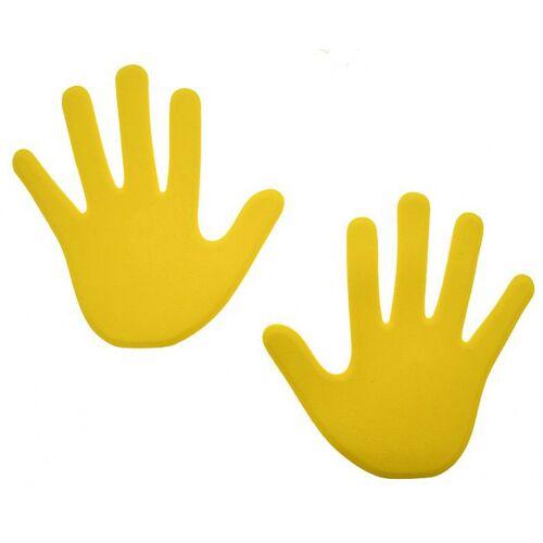 Reydon veldmarkering hand 15 x 13 foam geel 6 stuks - Geel