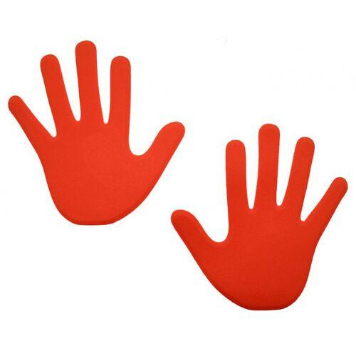 Reydon veldmarkering hand 15 x 13 foam rood 6 stuks - Rood
